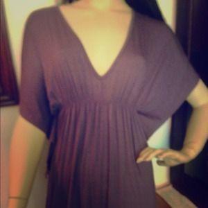 Plum Draping Sleeve Dress