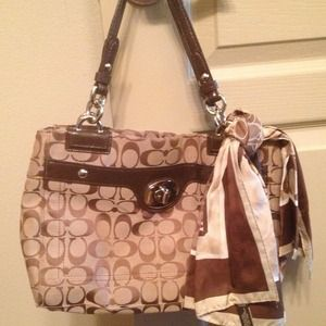 Coach Handbag Bundle with Nine West handbag