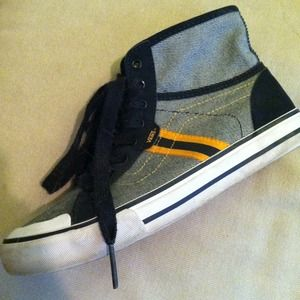 Vans High Tops Gray Yellow Black