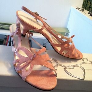 Pink snakeskin heels NWOT