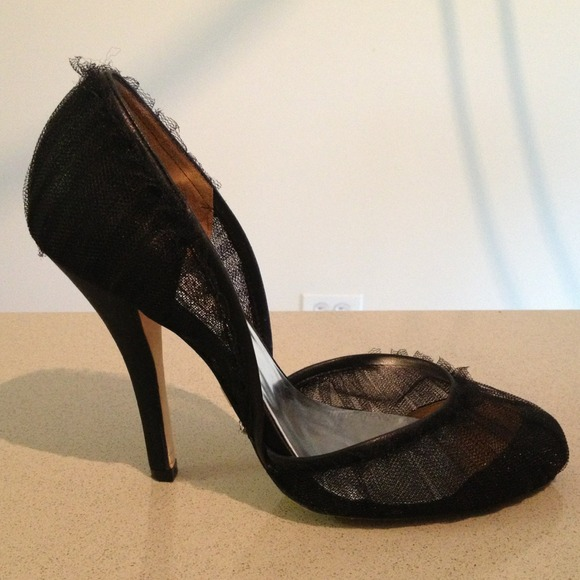 Badgley Mischka Shoes - Badgley Mischka black tulle heels 3