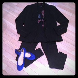 Black fitted blazer jacket