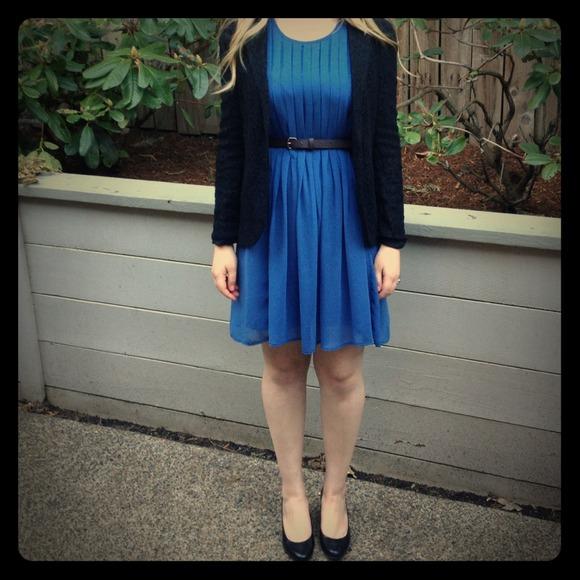Zara kleid blau kate middleton
