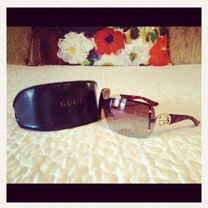 Authentic GUCCI Tortoise Shell Sunglasses.