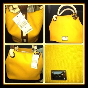 NWT- Michael Kors Med. Mustard color grab bag