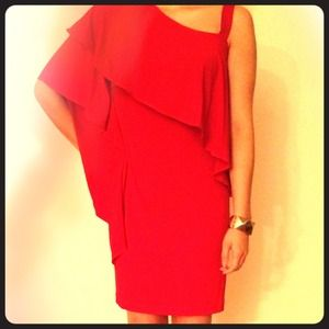 Red One Shoulder Dress