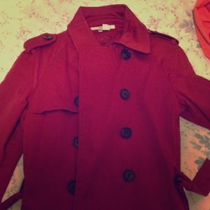 Zara belted red jacket