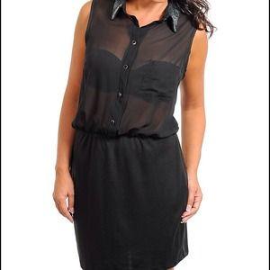 Dresses & Skirts - ***Plus Size*** Black with Sequins Dress. (LBD)