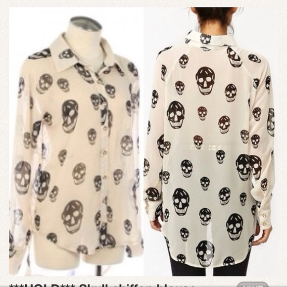 Black And White Skull Blouse 36
