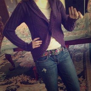Purple Sweater / Cardigan Size Medium