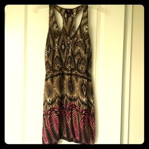 Brown and Pink Tribal Dress