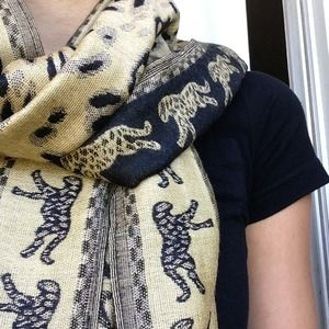 Other - ❌ SOLD Animal Print Cashmere Scarf