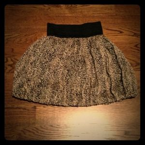 Patterned Chiffon Skirt (Zara)