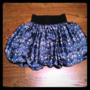Blue patterned skirt (Zara)
