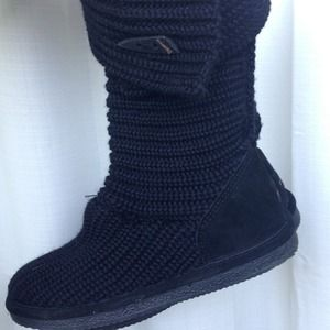 Shoes - Bearpaw Knit Tall Boots