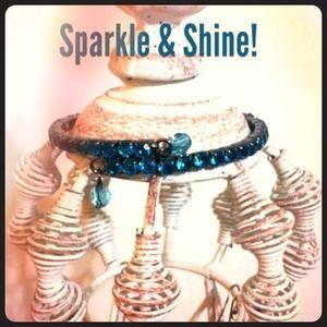 Jewelry - 💎Dark Turquoise Rhinestone Bracelet💎