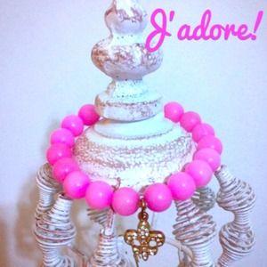 Jewelry - 💖Pink Fleur de Lis Bracelet!💖