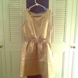 Lauren Conrad Gold Party Dress