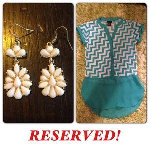 Tops - Shirt and earring bundle