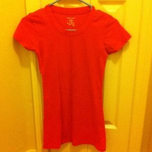 Wet Seal Tops - Wet Seal Red/Melon T-Shirt