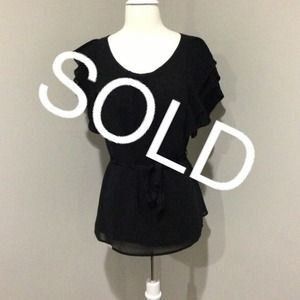 ❗️bundled❗️ Black chiffon Top
