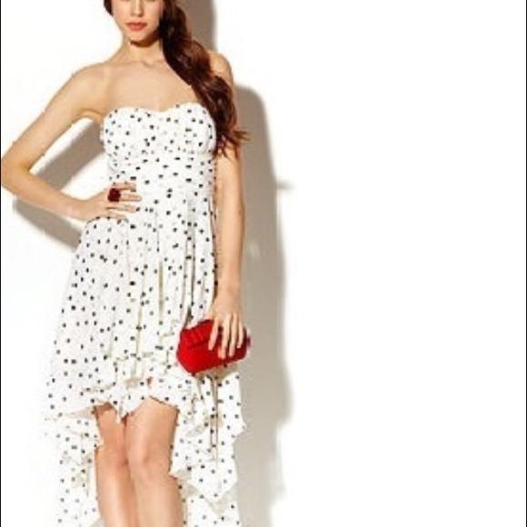 B Darlin Dresses | Macys S Strapless High Low Prom Dress | Poshmark