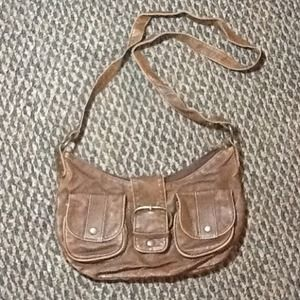 Brown cross body satchel