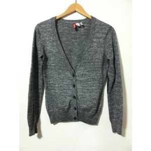 ⚡️sale cute grey cardigan with square elbows Small