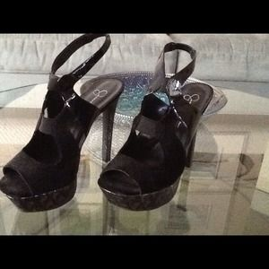 Jessica Simpson black leather shoes 8.5