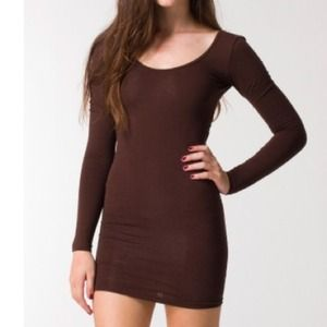 Brown American apparel dress