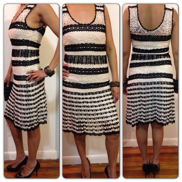 661a4aa3480 BCBGMAXAZRIA knit dress crochet  ) Host pick 🎉🎉