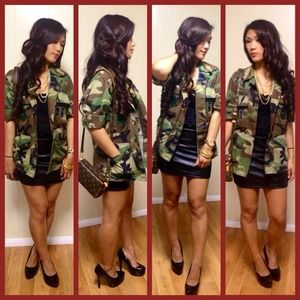 Jackets & Blazers - NWT Extra Small, Extra Short Camo Top