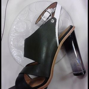 L.A.M.B. Multi Color Slingback With Lucite Heel