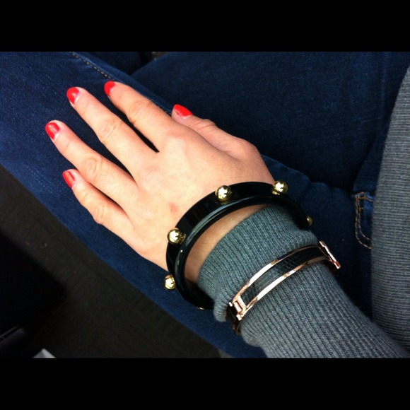 C. Wonder Jewelry - Black studded bangle