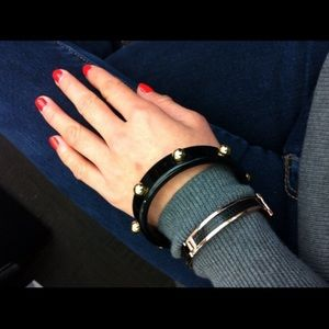 Black studded bangle