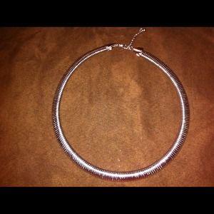 Costume jewelry-silver chain