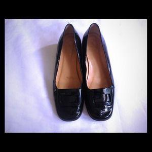 Authentic Coach Black Patent Leather Shoes Size 6