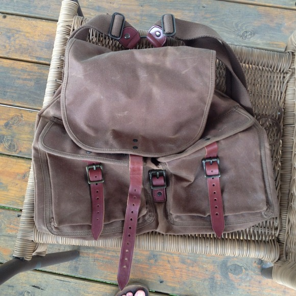 ✂PRICE CUT✂Vintage J. Crew Backpack Canvas&Leather