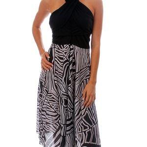 Dresses & Skirts - BLACK ZEBRA PRINTED INFINITY PLUS SIZE DRESS