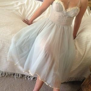 Other - HOST PICK: Vintage Powder Blue Gown and Robe