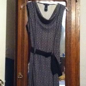 Kenneth Cole Dress w/Sash Front/Back Pleats