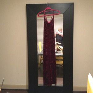 Dresses & Skirts - Red crusted velvet maxi slimfit dress. Never worn.