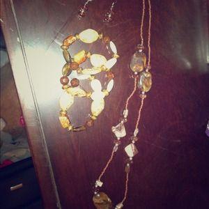 Earth tone stone jewelry