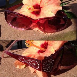 Wine colored sun glasses