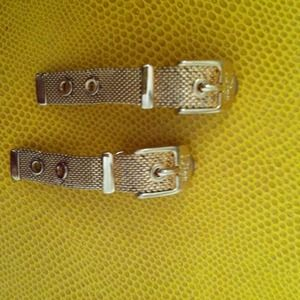 Dior-----Markdown!----- gold tone buckle earrings