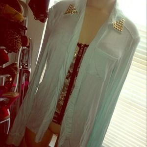 Tops - Blue    Cardigan /shirt