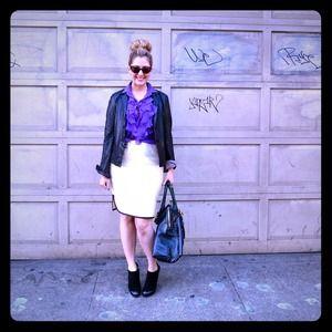 NWT-J Crew Tuxedo Skirt