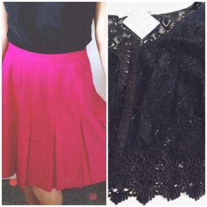 Isabel Ardee Dresses & Skirts - Magenta Skirt & Scalloped Lace Caplet