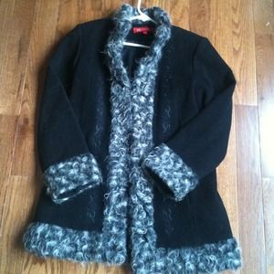 Outerwear - REDUCED! !!!ANNE KLEIN black and gray wool coat