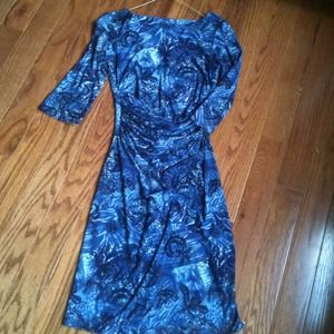 Dresses & Skirts - REDUCED!!Cute blue with silver accents  dress